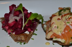 Sandwiches from Smorgas Chef Restaurant in the Scandia House Center in New York City