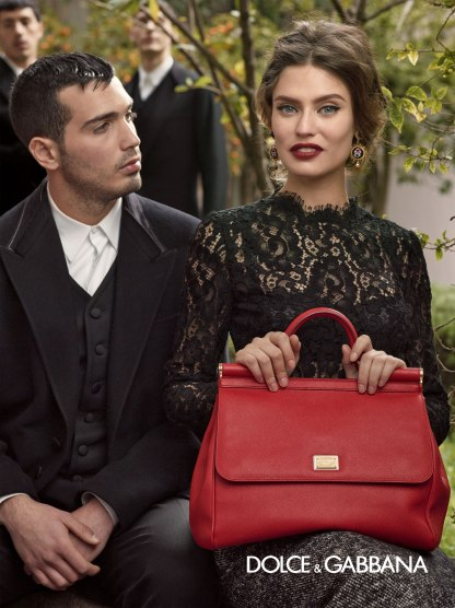 Dolce and Gabbana Amazing Dress and Bag Fall 13