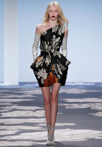 Vera Wang Print Dress 2014