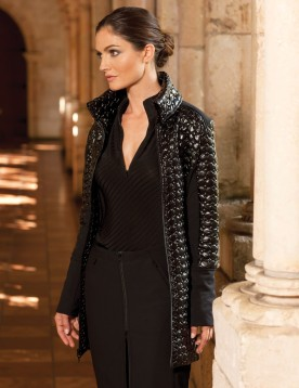Fia Quilted Bubble Long Jacket - $525
