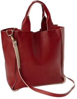Gap Cinnabar Red Leather Bag - $98
