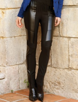 Heather Leather Pant -$235
