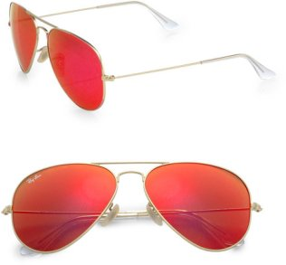 Red Ray Ban Aviators - $160