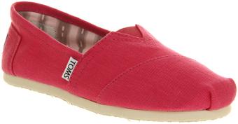 Toms Pink Seasonal Slip Ons - $63