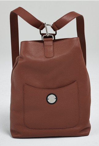 Asmar Equestrian Italian Leather Backpack Brown