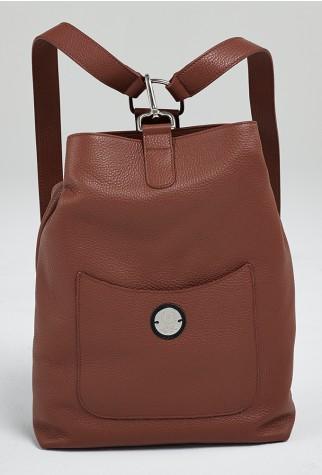 Asmar Equestrian Italian Leather Backpack Brown