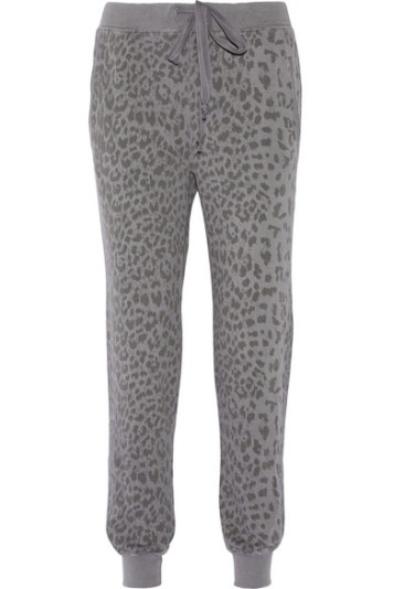 Current Elliott Slim Vintage Printed Cotton Track Pants