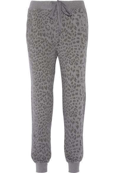 Current Elliott Slim Vintage Printed Cotton Track Pants