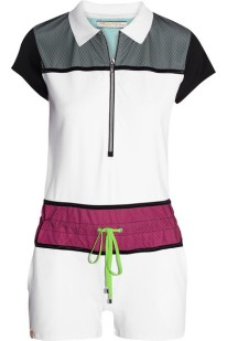 Monreal London Mesh Peneled Stretch Jersey Playsuit