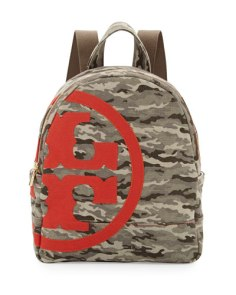 Tory Burch Camo Logo Backpack
