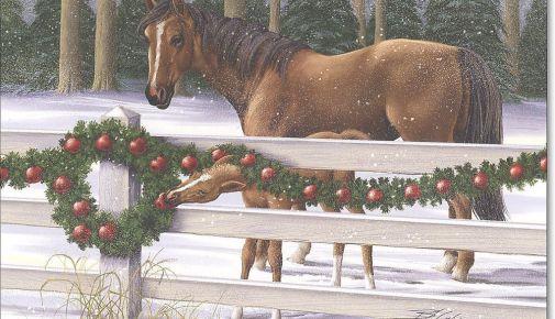 christmashorseandbaby